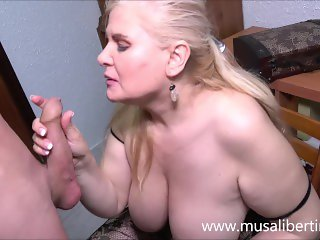 'Blowjob and titjob with a mature expert'