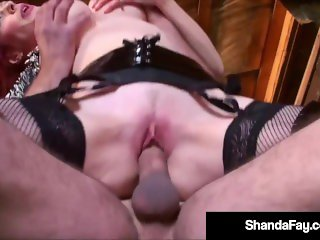 'Big Boobed Housewife Shanda Fay Uses Her Cowgirl Coochie To Ride A Cock!'