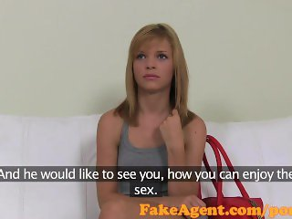 FakeAgent Super cute sex kitten fucked hard in Casting