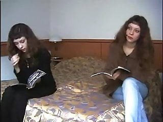 Russian teenage twins at porn casting