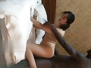 Chinese Real Prostitution, black cock fucks plump mature whore