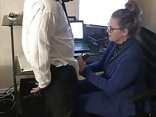 Mature Office Slut Cheats With Black Employee At Work