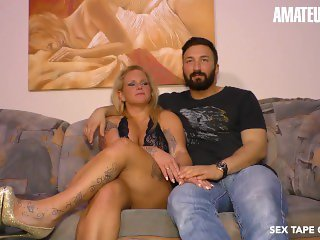 'SexTapeGermany - Newbie German MILF Makes A Porn Scene With Her Horny Husband - AMATEUREURO'