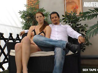 'SexTapeGermany - Real German Couple Hardcore Fuck In First Porn Audition - AMATEUREURO'