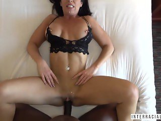 'Chesty Ohio MILF Jadan Snow sucks and fucks Jax Slayher in one of her very few porn scenes.'