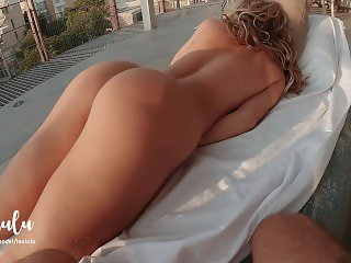 'He caught me masturbating.. ! Very intimate sex on the balcony - Amateur Couple LeoLulu'