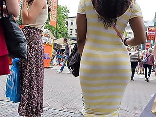 Ebony ass in dress