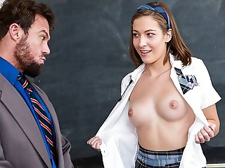 High School Teen Seduces Teacher With Her Perfect Tits