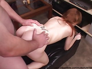Petite Redhead Mom Pays The Late Charges With Anal Sex