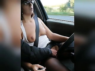A stepmom lets loose in the car