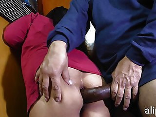 Giant cock pierces my ass and I scream in pain and pleasure