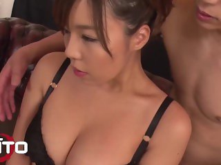 'Erito - Sexy Japanese Babe Sucks And Rides Cocks In A FMM Threesome'