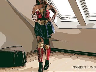 Wonder Woman Cosplay – used like a slut, projectsexdiary