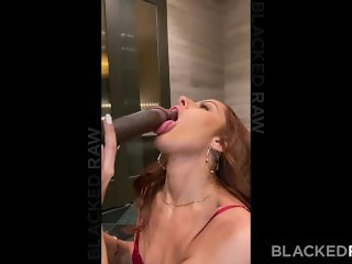 'BLACKEDRAW Tight petite Brunette fucks huge BBC for her BF'