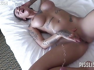 BIg titted girl rims guy and gets her ass fucked good